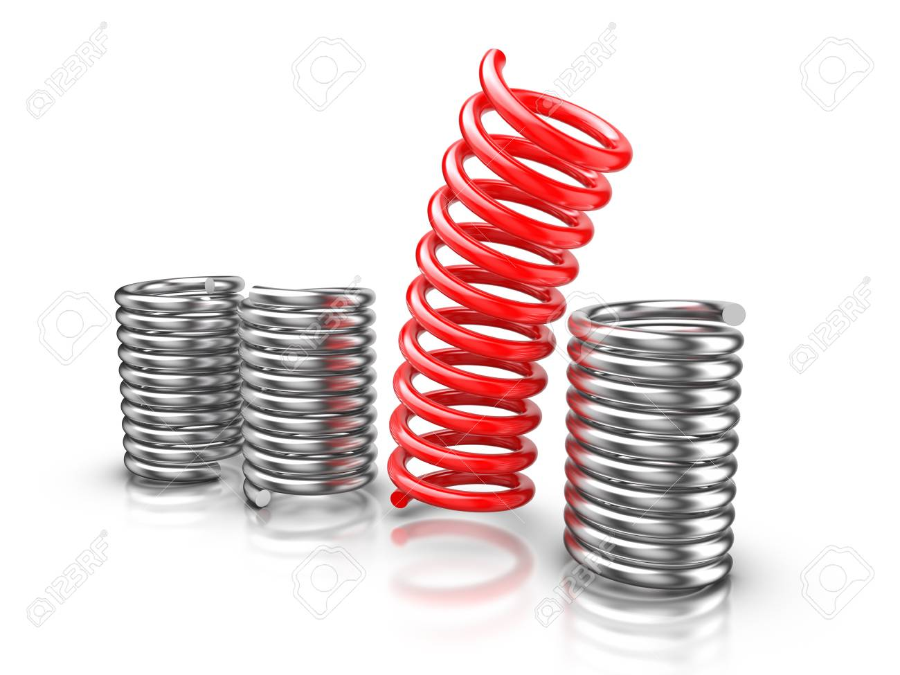 Springs isolated on white background Stock Photo - 13725804