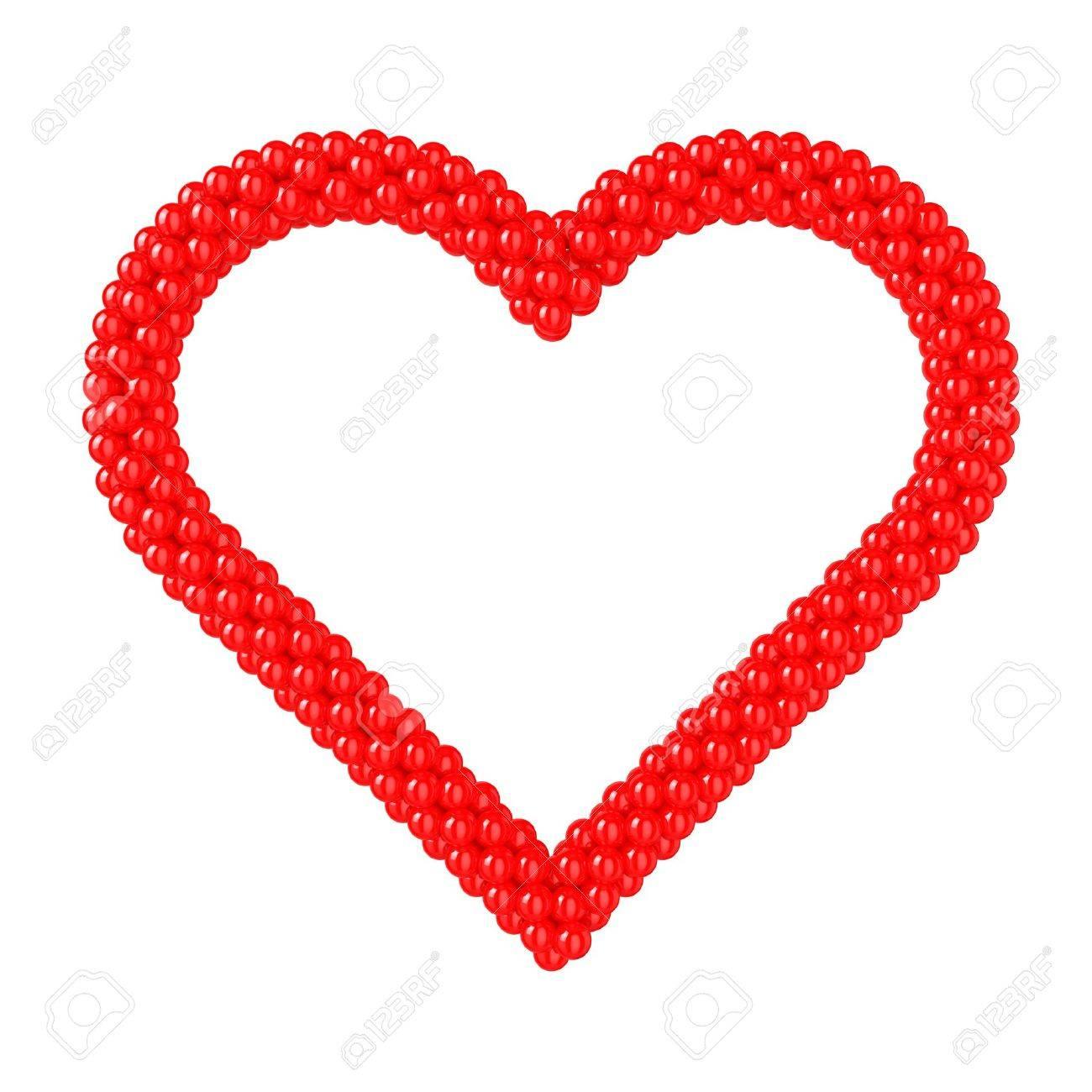 Herzförmigen Rahmen Mit Ballons Erstellt. Lizenzfreie Fotos, Bilder ...