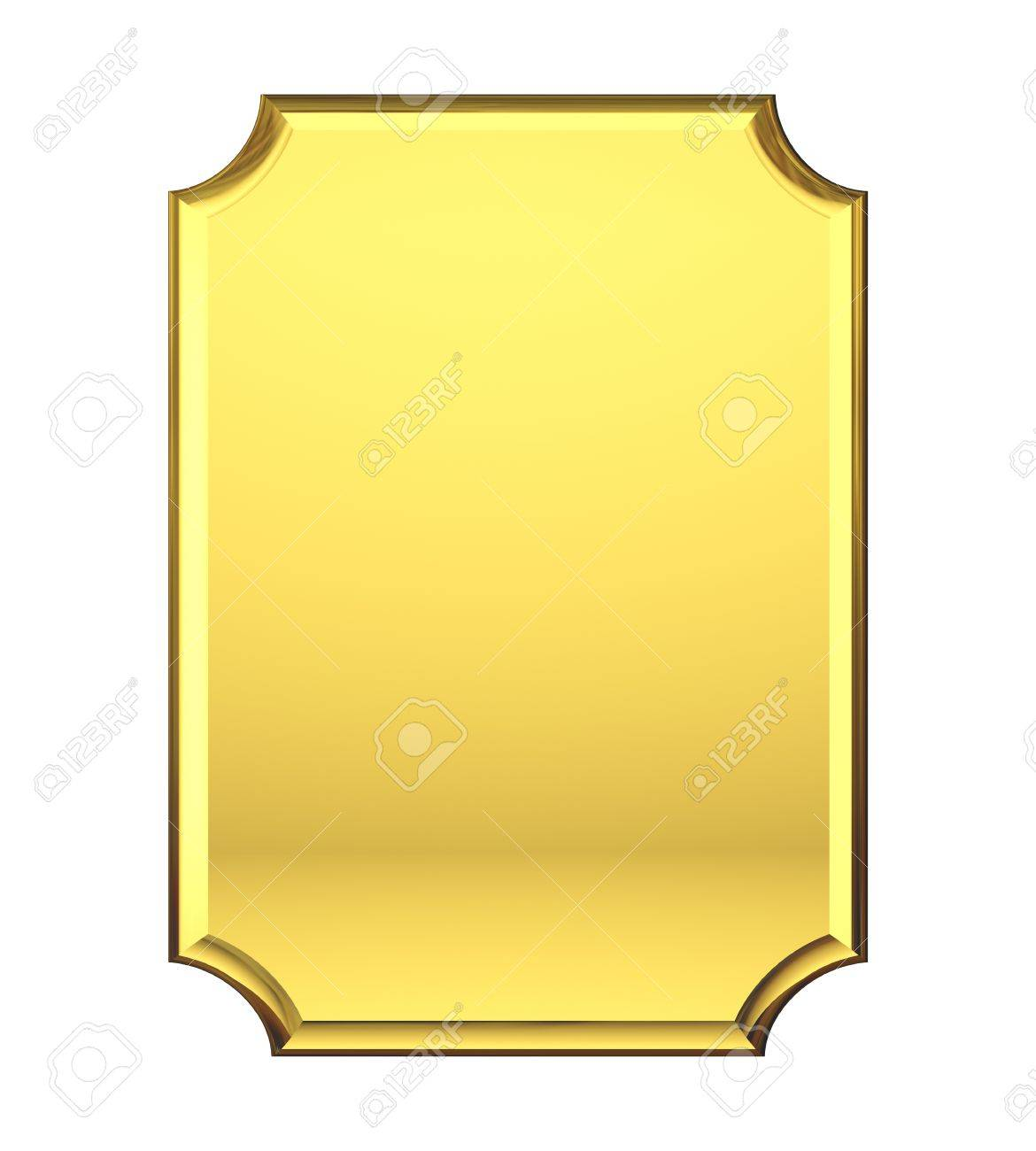 Blank Gold plate Stock Photo - 21646033