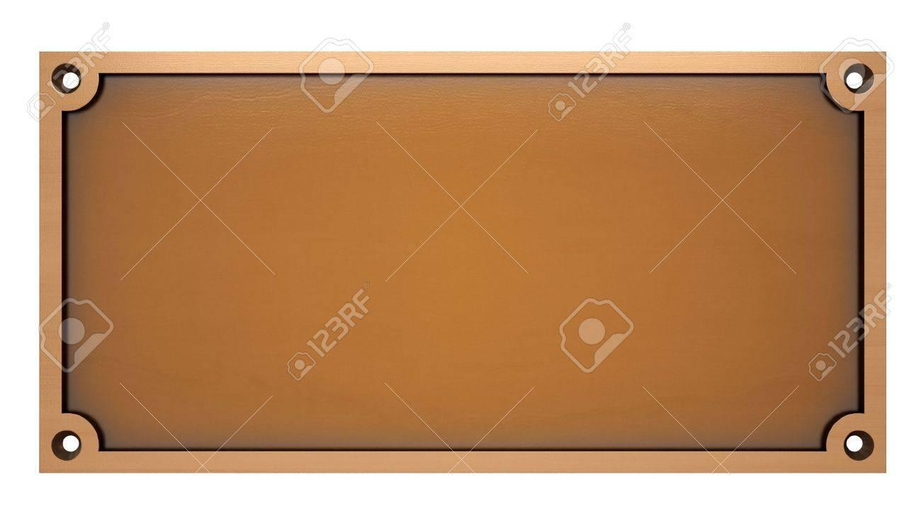 Bronze Plaque Stock Photo - 21646035