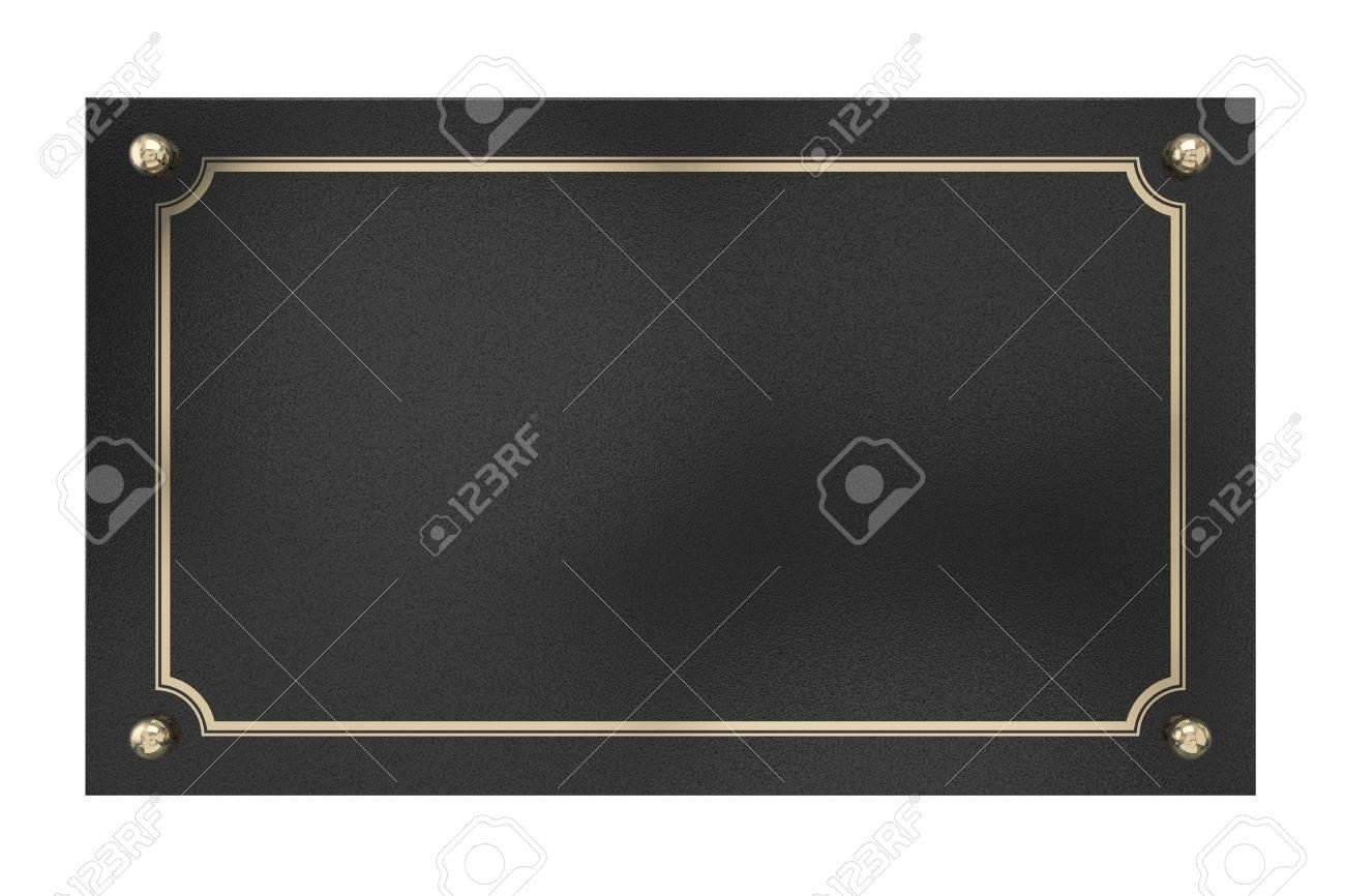 Metal Plaque Stock Photo - 21646049