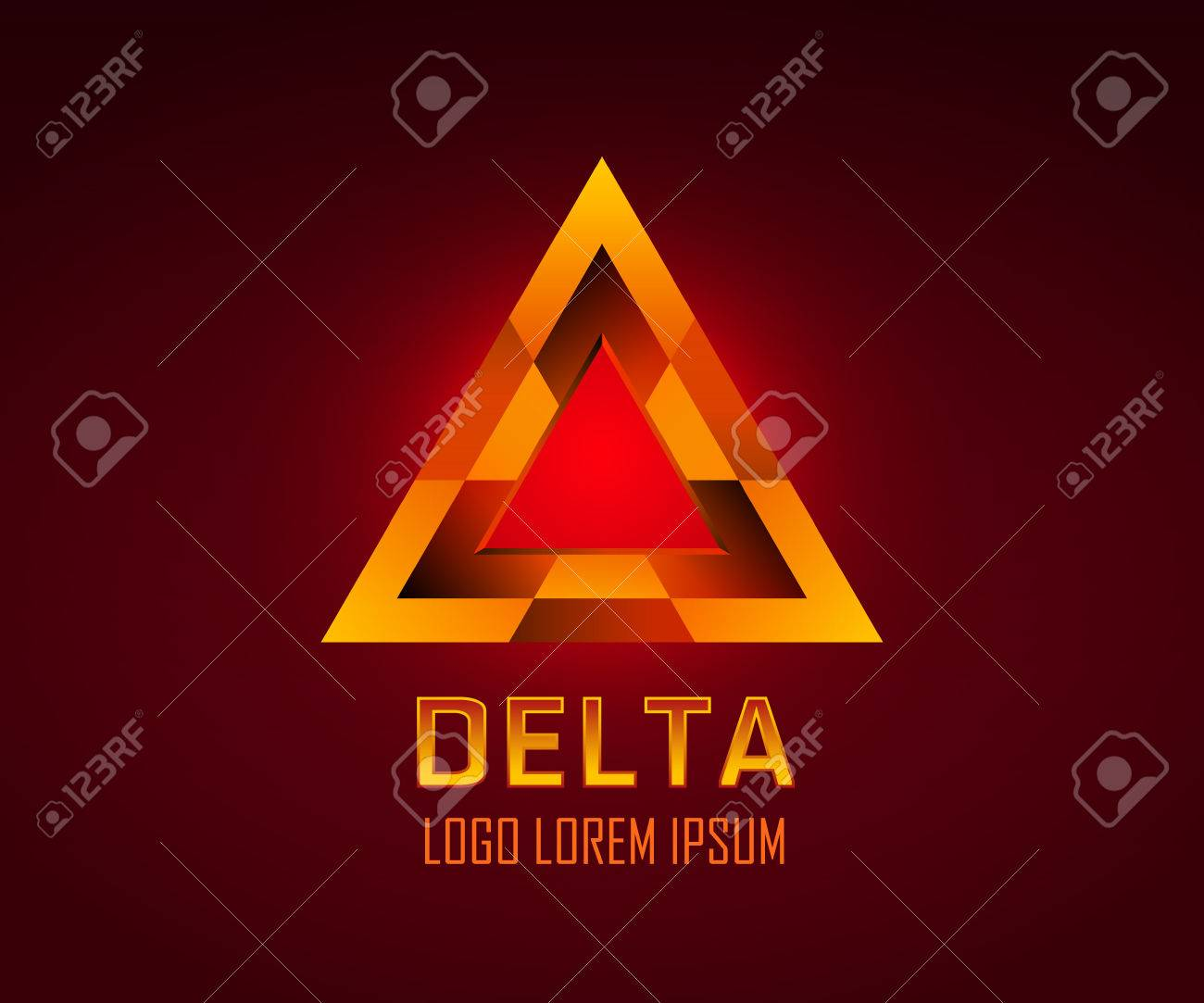 Triangle Figure Or Delta Symbol Vector Logo You Can Change Color