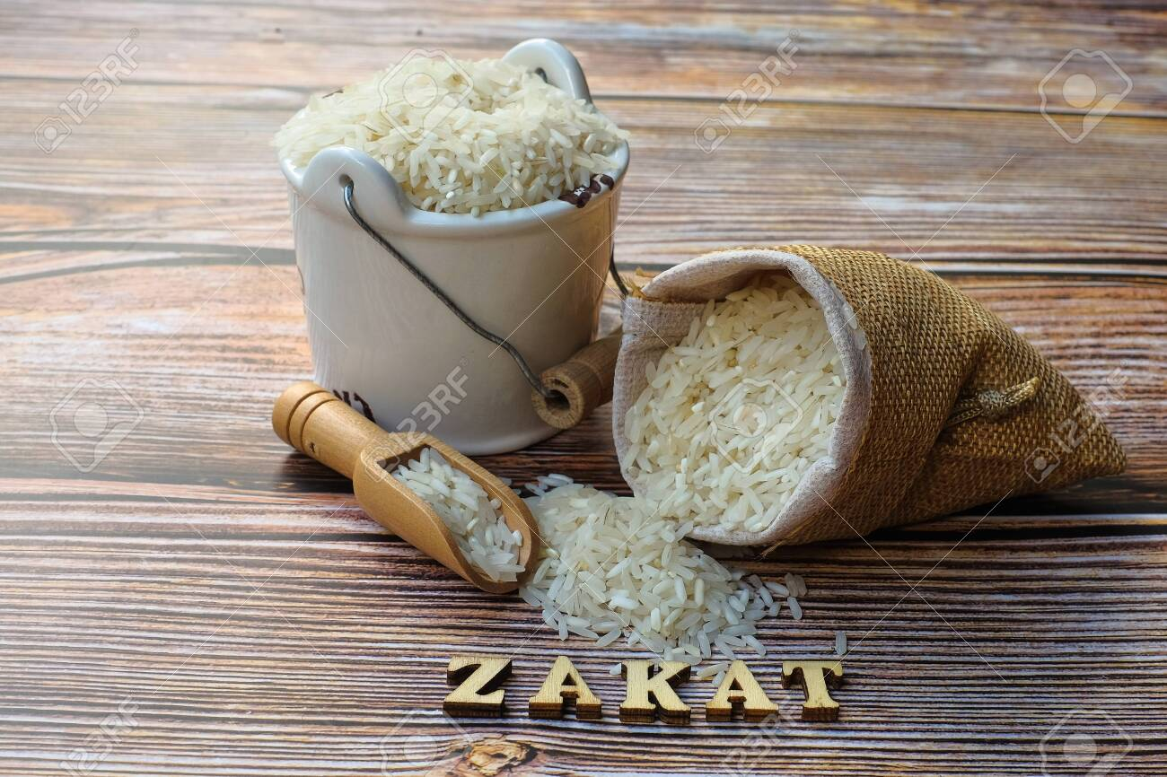 zakat word and rice on wooden background zakat concept zakat stock photo picture and royalty free image image 147443516 123rf com