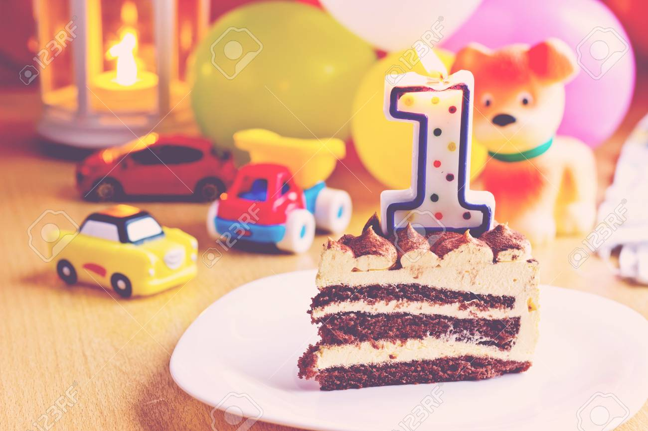 Tremendous Baby Boy First Birthday Party Focus On Cake With Blurred Funny Birthday Cards Online Inifofree Goldxyz