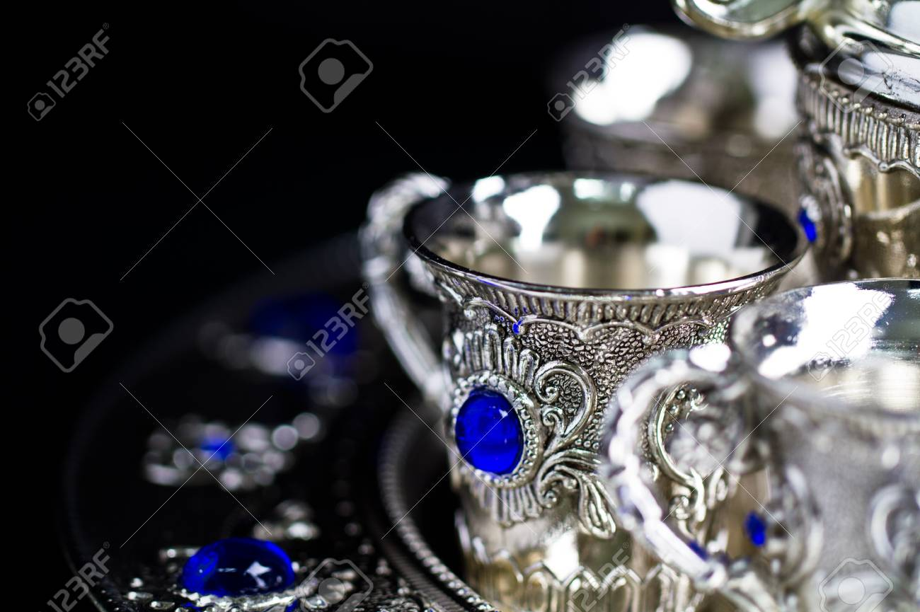 silver cup close up with copy space Stock Photo - 11496116
