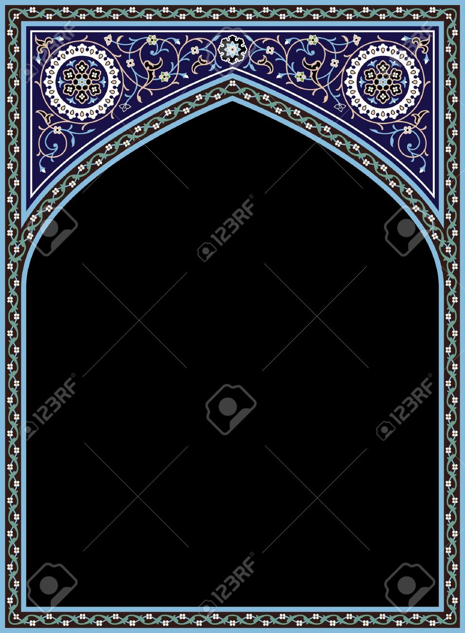 Traditional Arabic Frame Stock Vector - 15555042