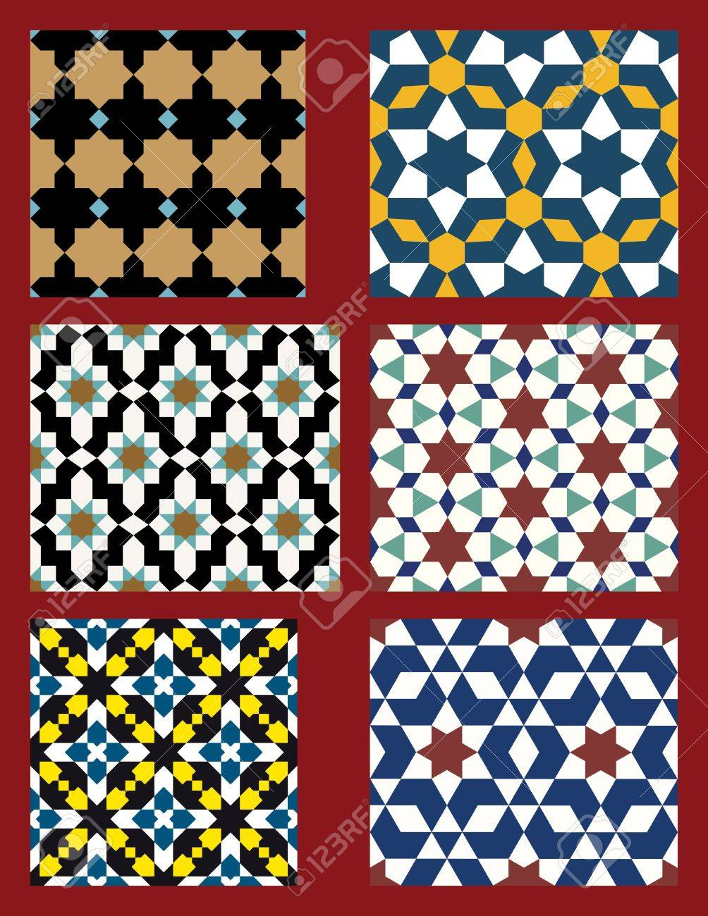Set of Traditional Morocco Patterns Stock Vector - 15565307