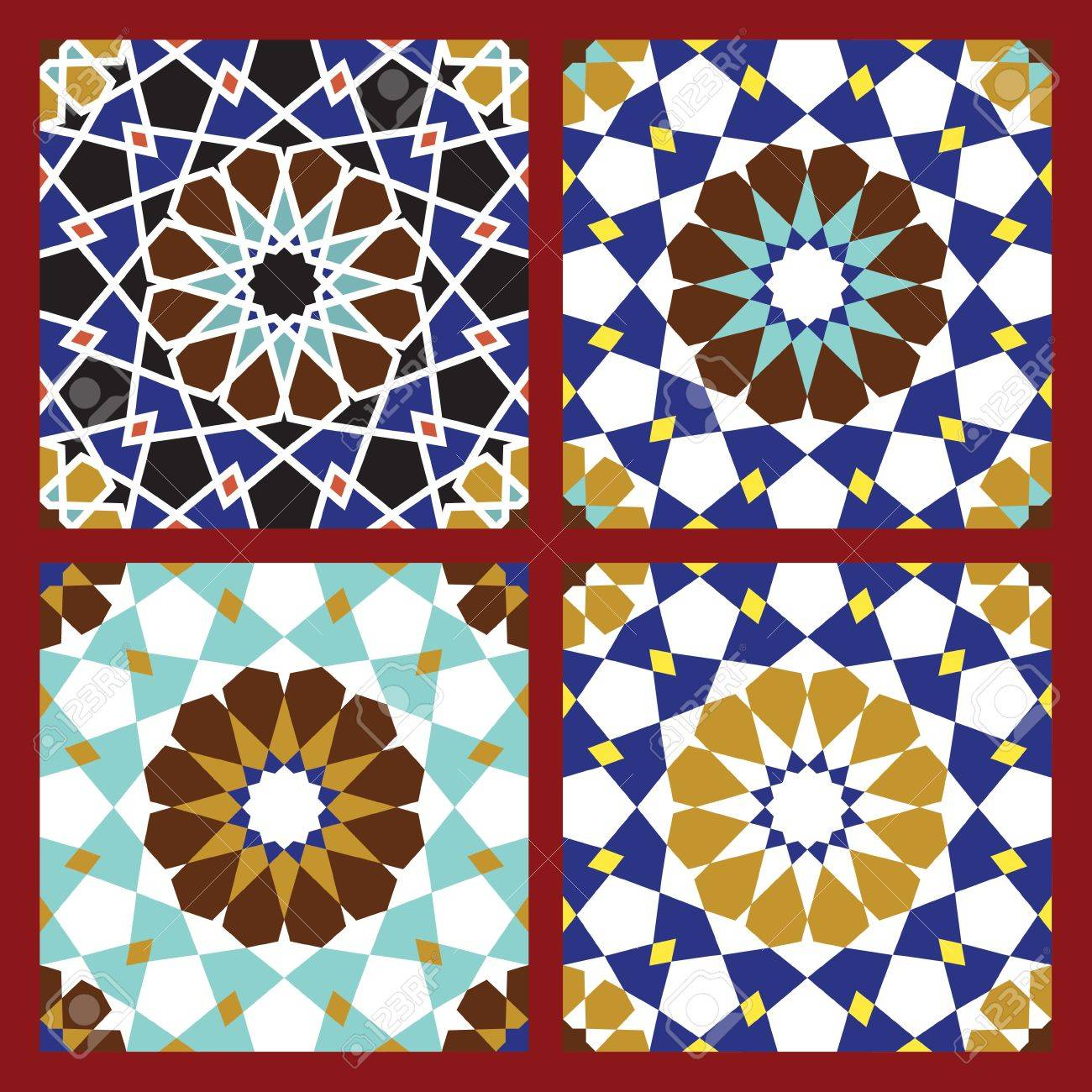 Set of Traditional Morocco Patterns Stock Vector - 15565389