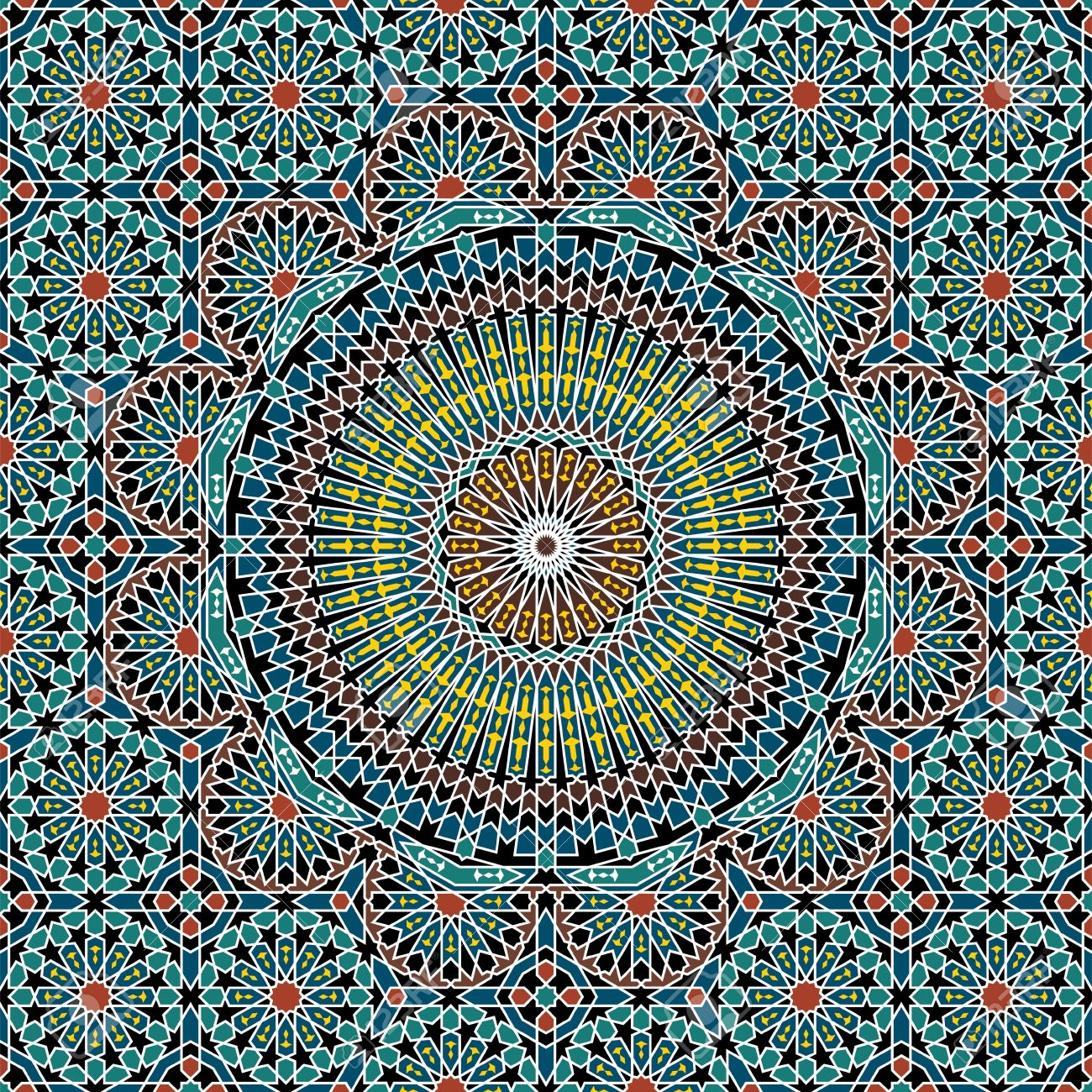 Traditional Morocco Pattern Royalty Free Cliparts, Vectors, And ...