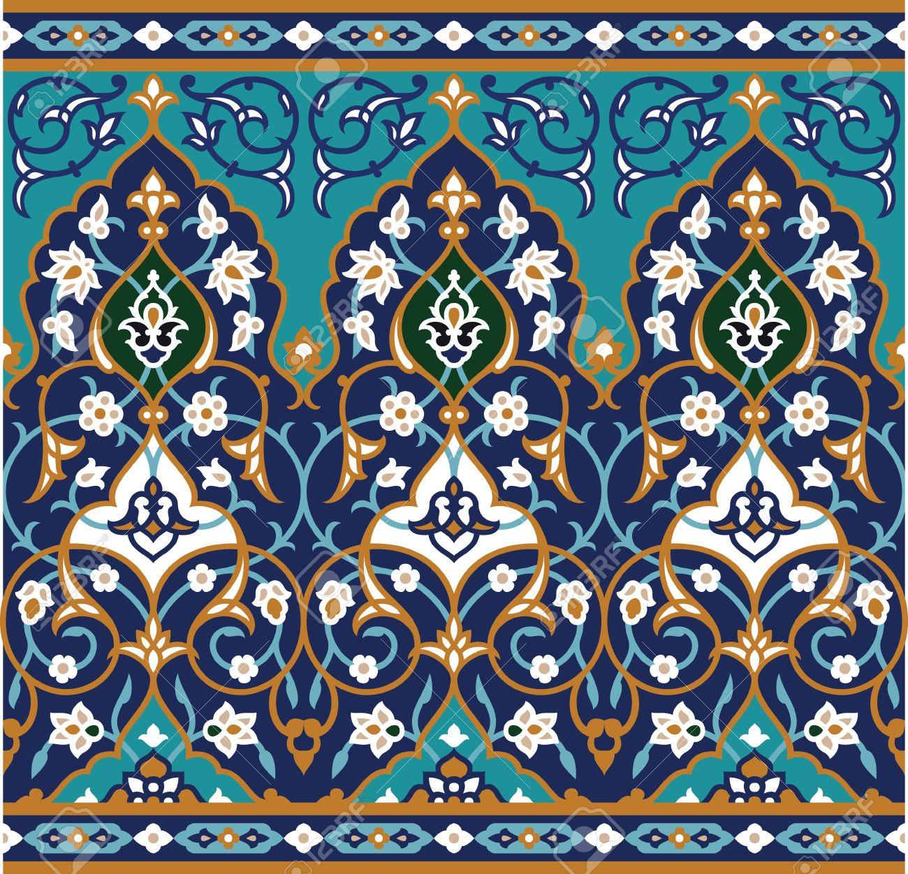 Traditional Arabic Border Stock Vector - 15565435