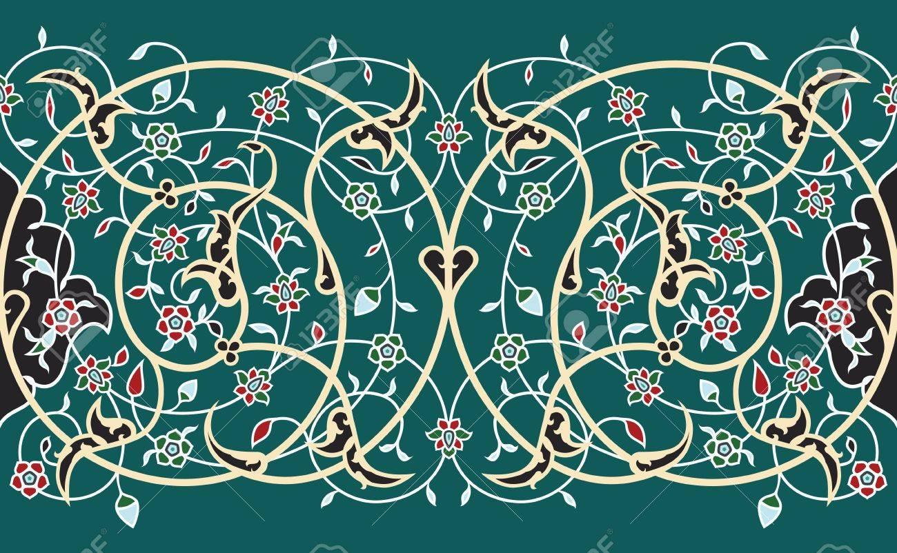Traditional Arabic Border Stock Vector - 15565437