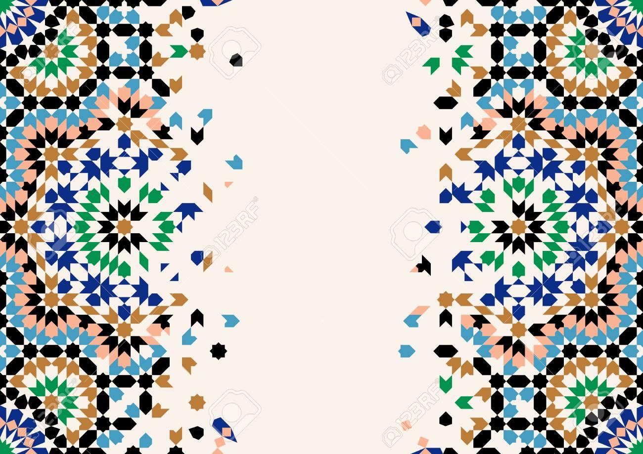 morocco disintegration template islamic mosaic design abstract