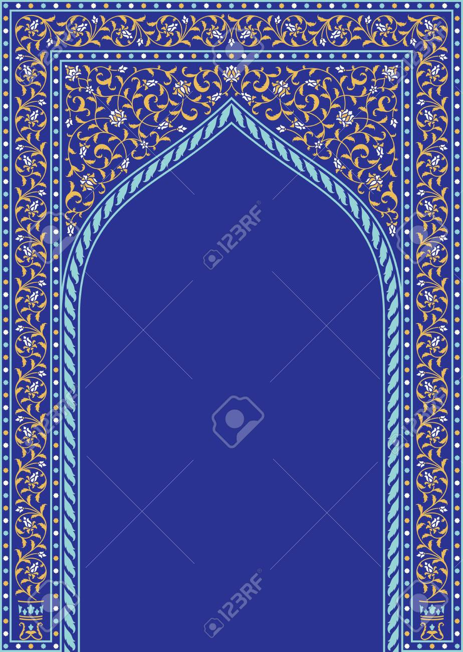 Arabic Floral Arch  Traditional Islamic Background  Mosque decoration