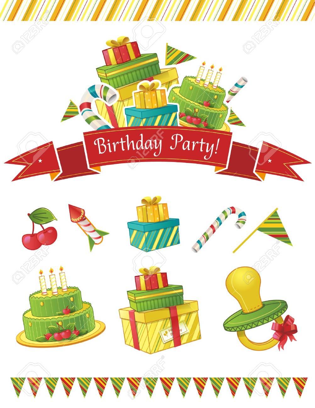 Birthday party elements Stock Vector - 15329191