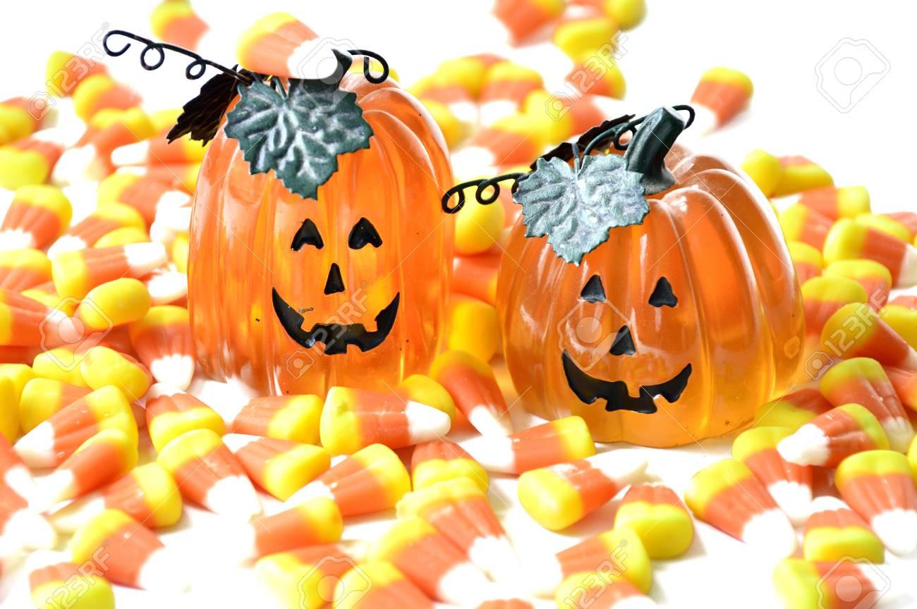 Halloween Süßigkeiten Mais Orange Süßen Für Den Urlaub. Lizenzfreie ...
