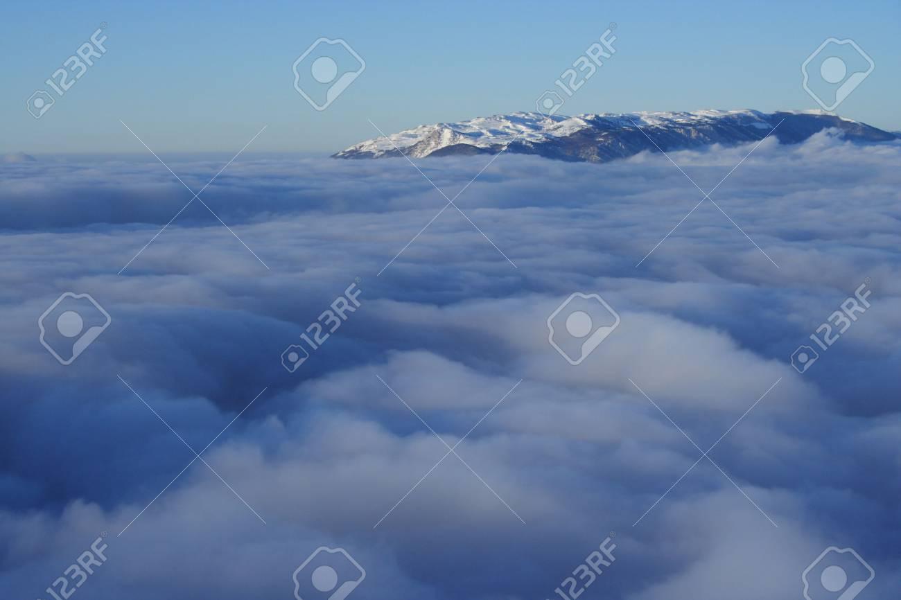 view of Babulgan redge, Crimea, Ukraine with high cloudness Stock Photo - 1236336