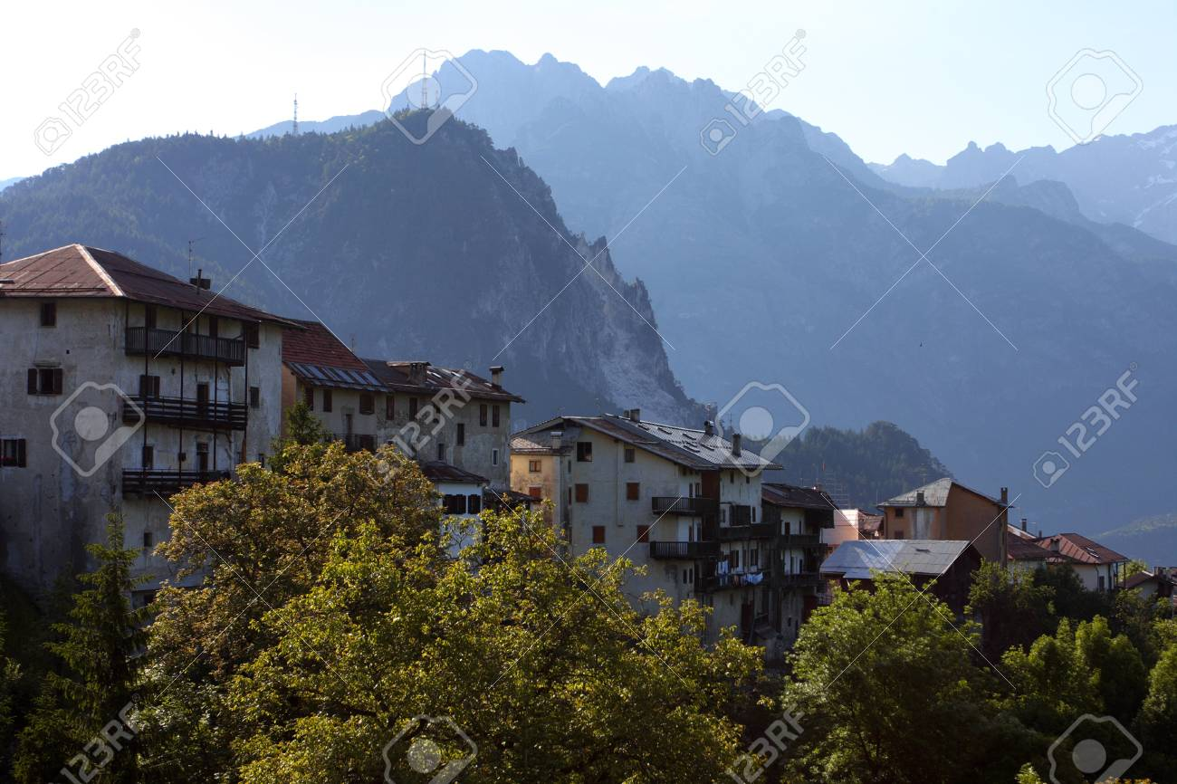 old italian village,  Alps Stock Photo - 14216803