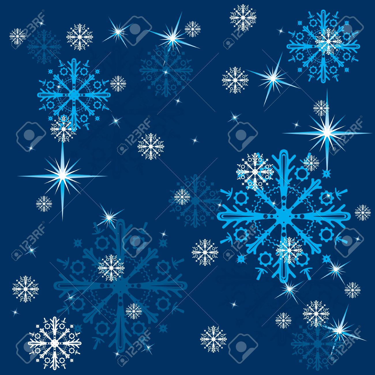 blue winter background with snowflakes Stock Vector - 16401922