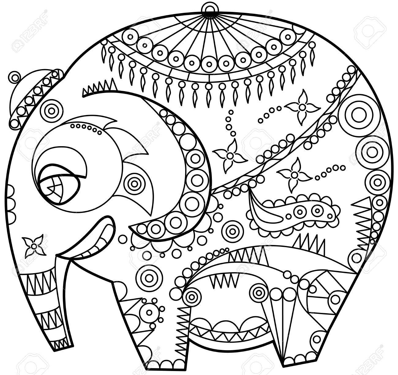 Elephant Drawing Outline Outline Elephant Indian