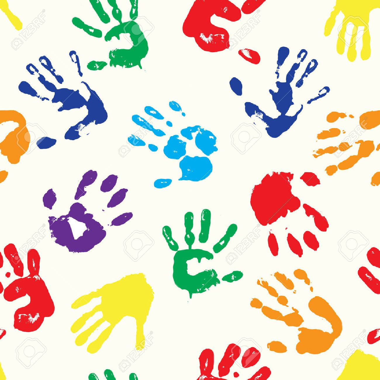 multicolored fingerprints with the colors of rainbow - 51212778