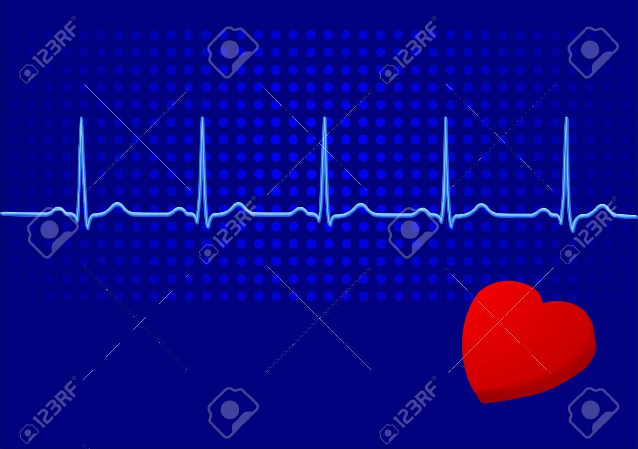 heart and electrocardiogram Stock Vector - 6732350