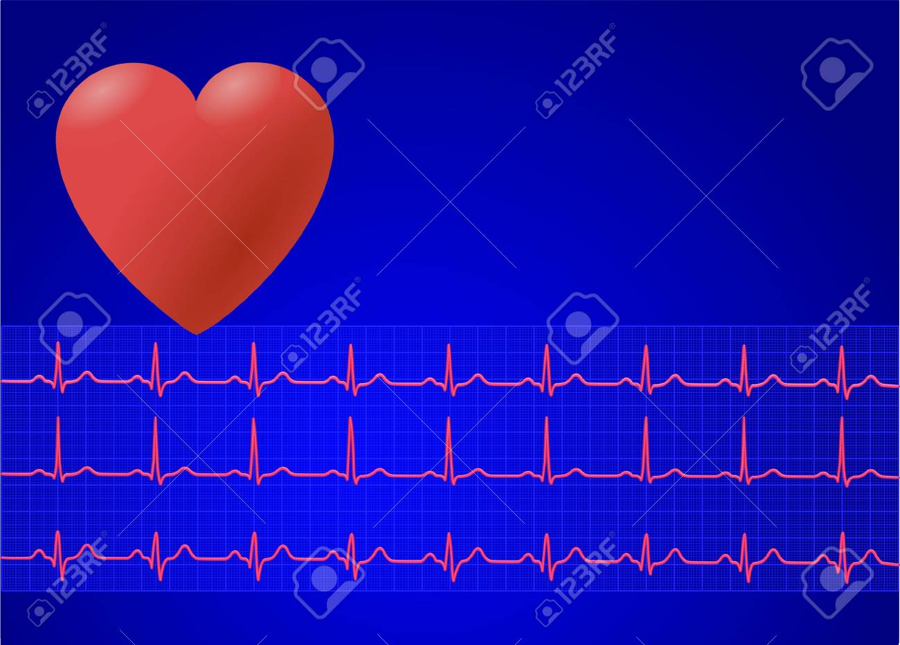 heart and electrocardiogram - 6732352