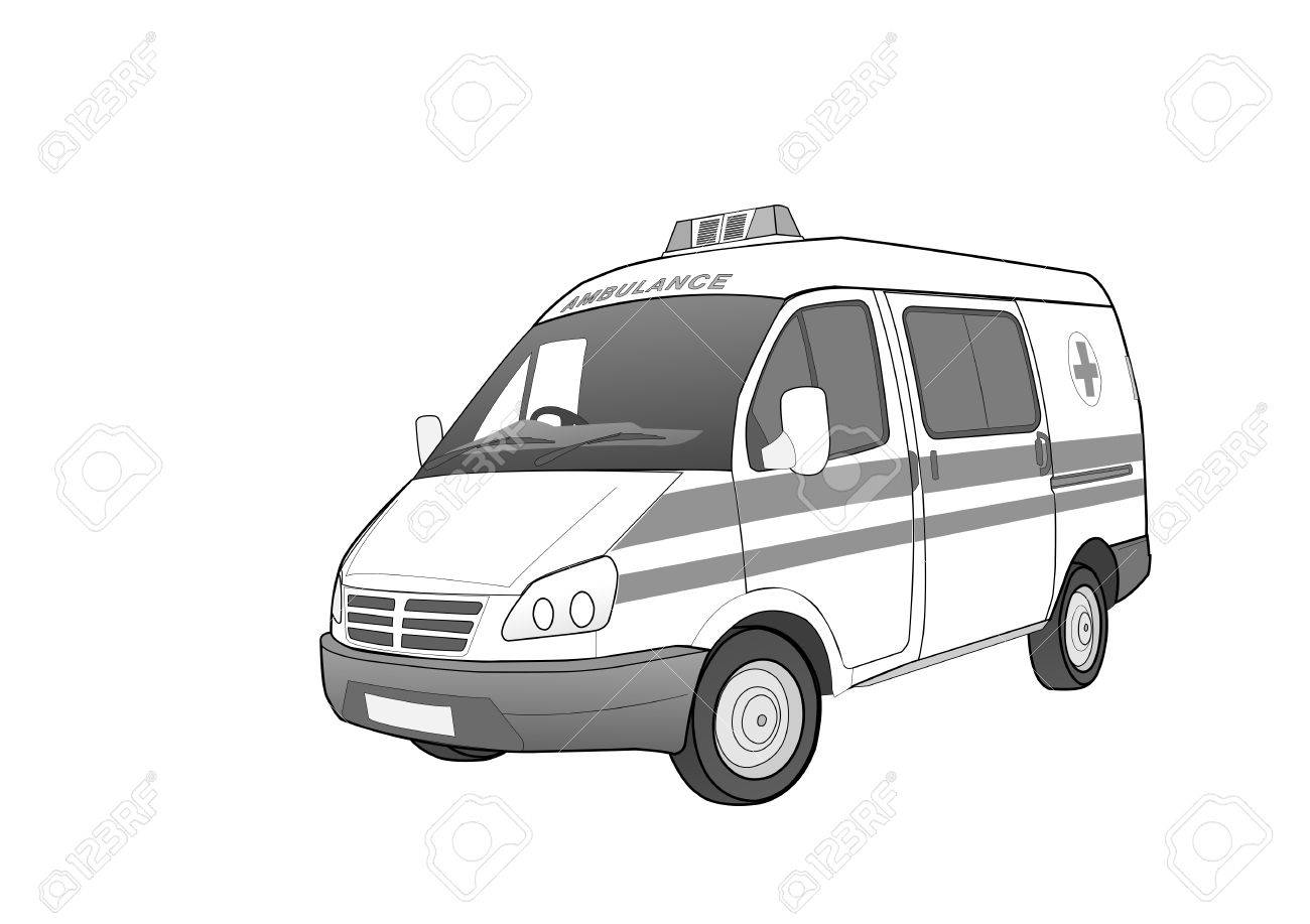 first aid car, illustration Stock Vector - 7021085