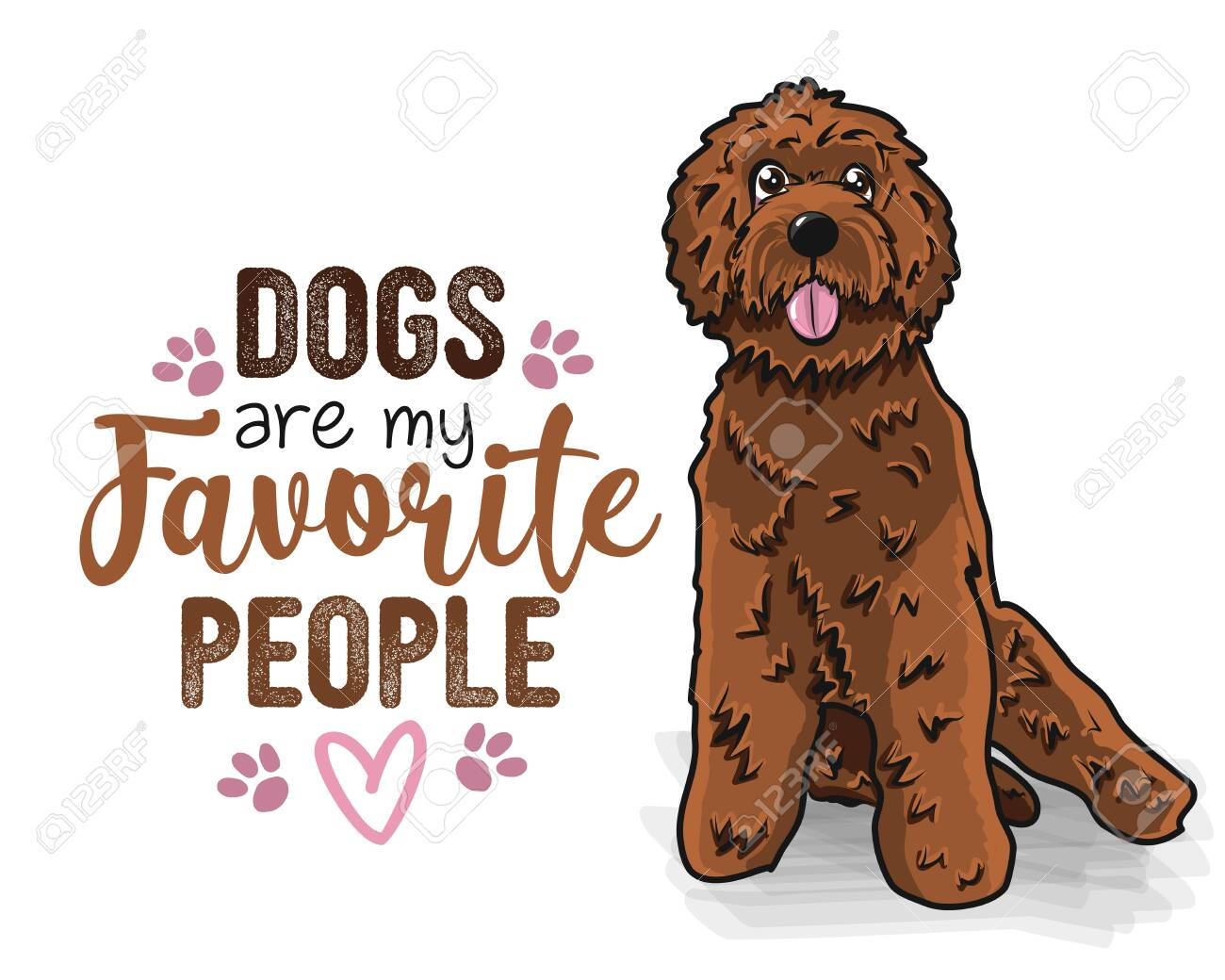 Dogs Are My Favorite People Funny Hand Drawn Vector Saying Royalty Free Cliparts Vectors And Stock Illustration Image 147780023