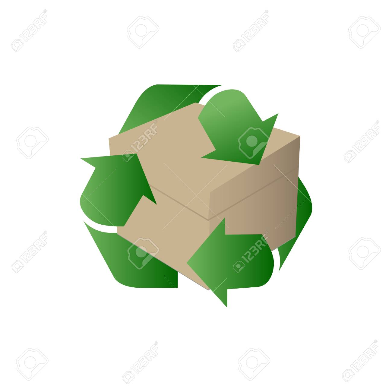 Blank cardboard box for Recycle box Vector. - 87679604