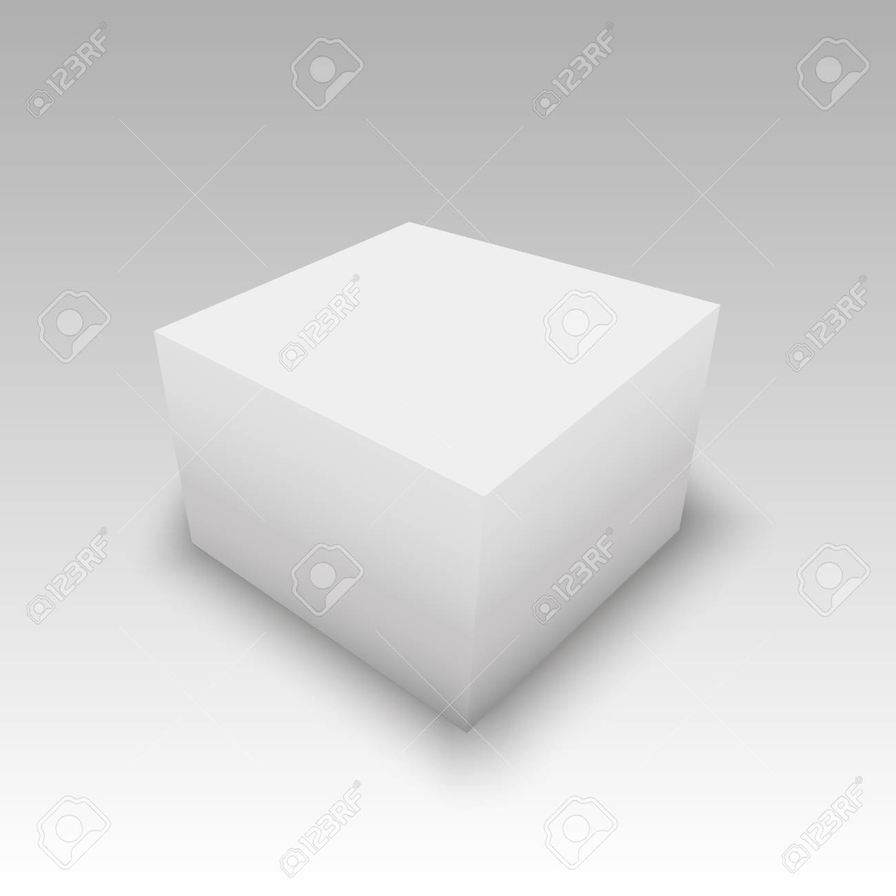 Plantilla De Caja De Cartón O Papel En Blanco. Ilustración ...