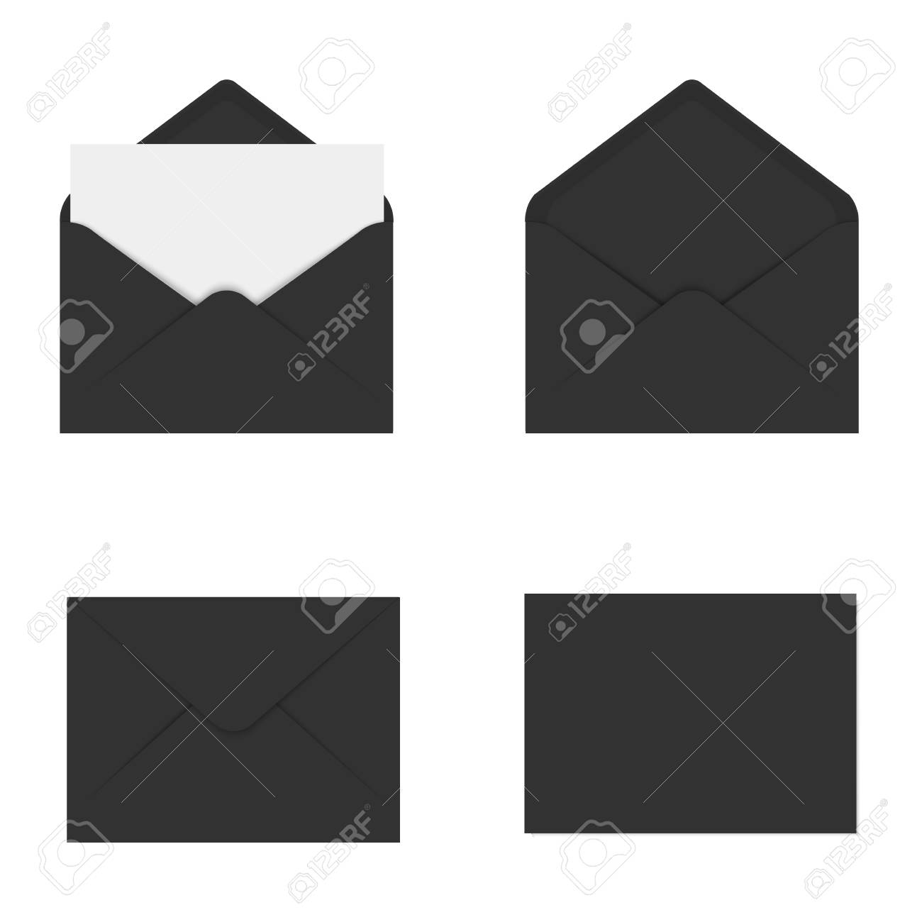 Realistic black mockup envelope for letter or invitation card realistic black mockup envelope for letter or invitation card vector stock vector 89175163 stopboris Image collections