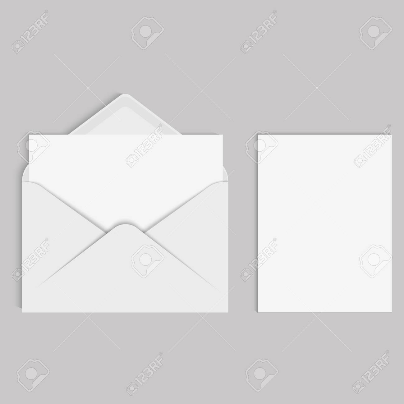 Vector realistic mockup for letter or invitation card royalty free vector vector realistic mockup for letter or invitation card stopboris Image collections