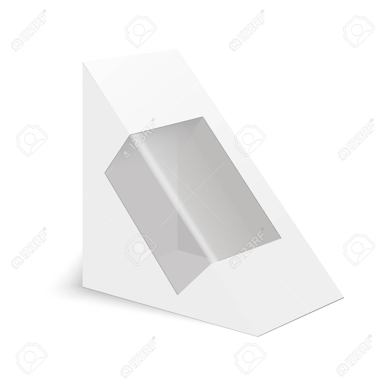 White Cardboard Triangle Box Packaging For Sandwich Food Gift
