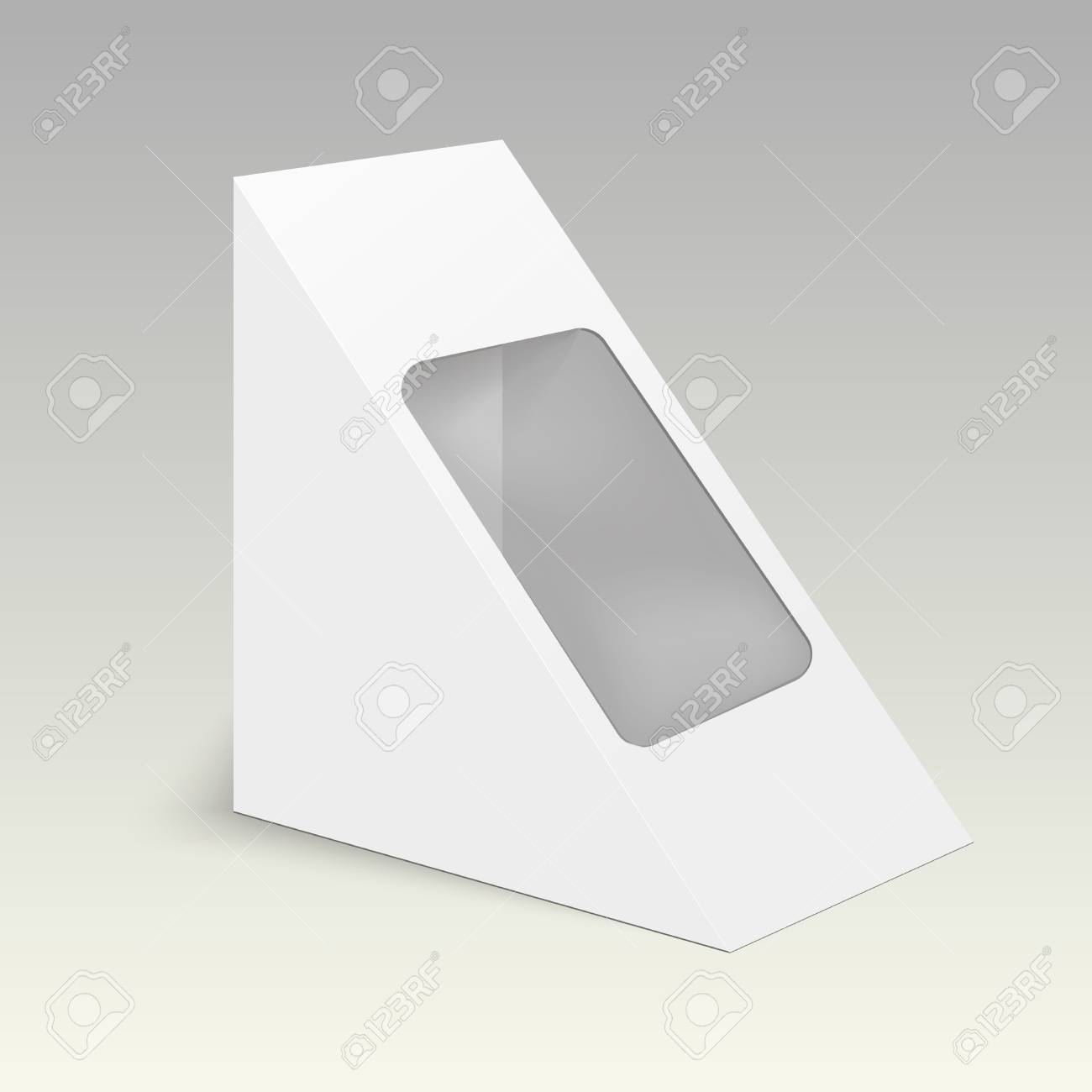 Blank Cardboard Triangle Box Packaging For Food Gift Or Other