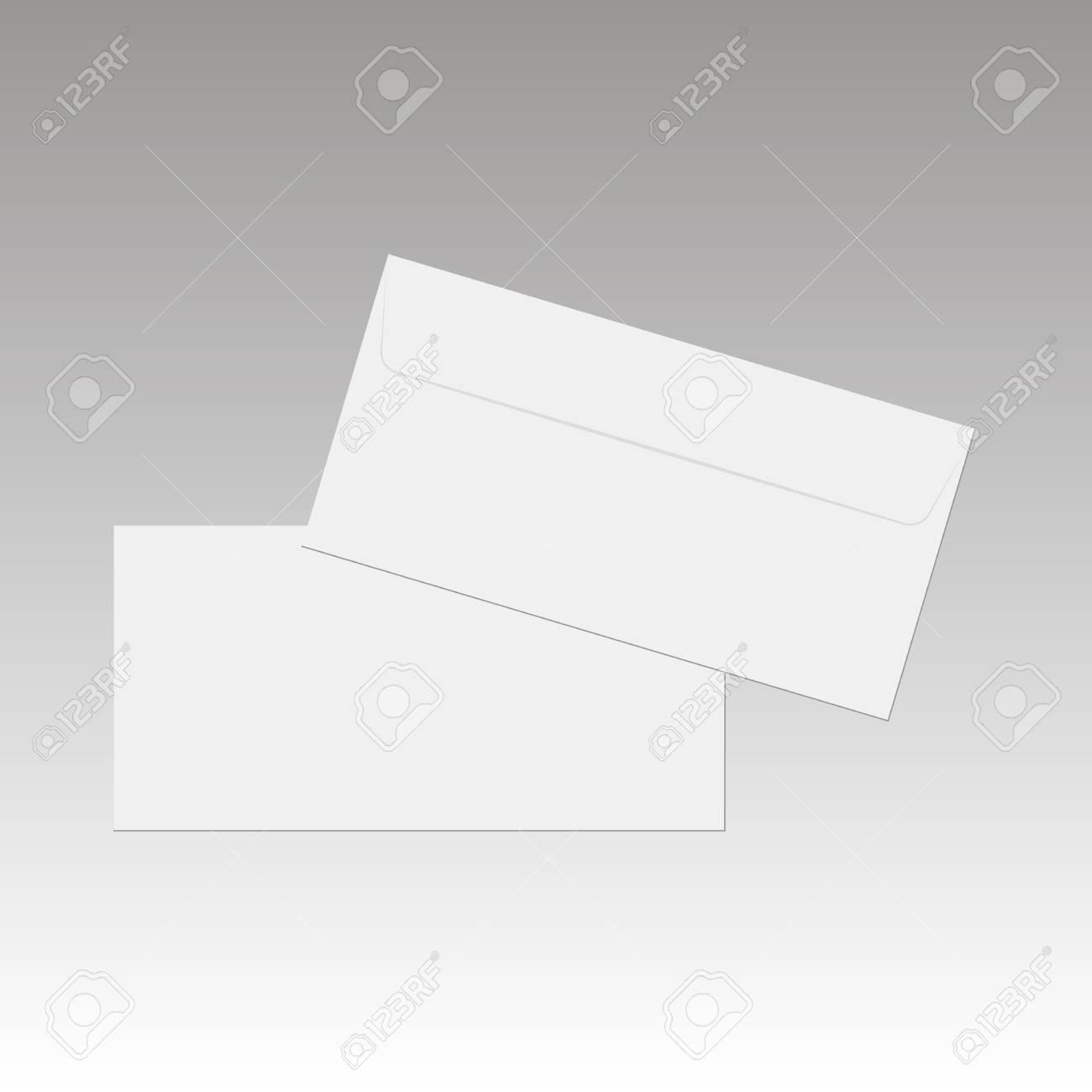 Sobres De Papel En Blanco Para Su Diseño. Vector Sobres Plantilla ...