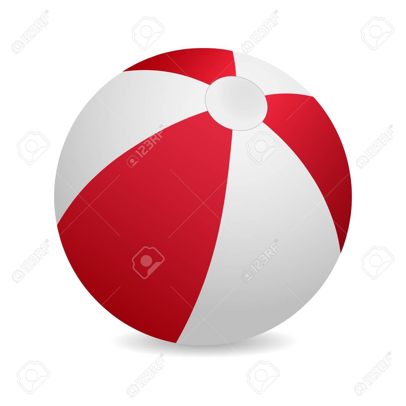 3d red beach ball vector illustration royalty free cliparts rh 123rf com beach volleyball ball vector beach ball vector icon