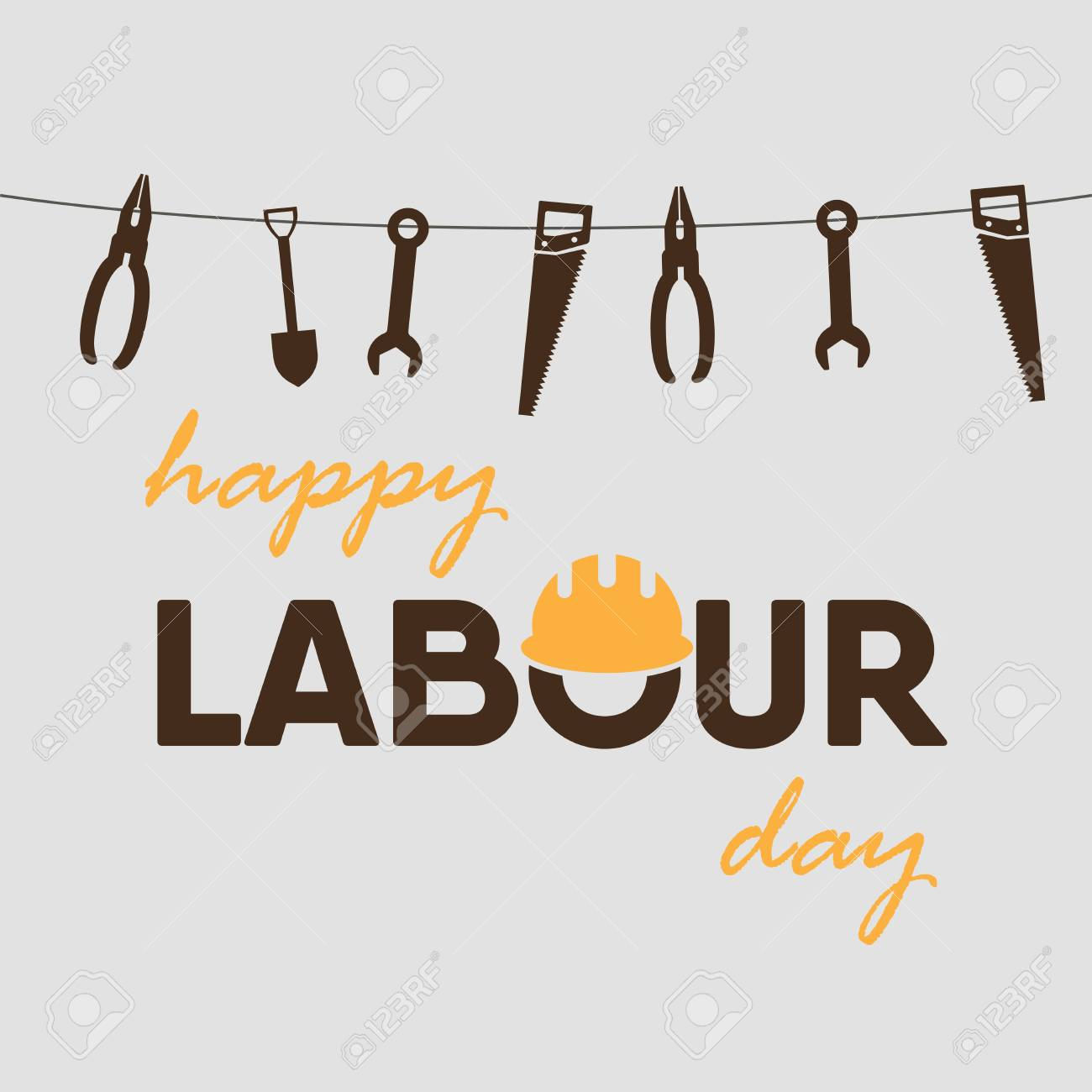 Happy labour day greeting card poster vector royalty free cliparts happy labour day greeting card poster vector stock vector 99282038 m4hsunfo