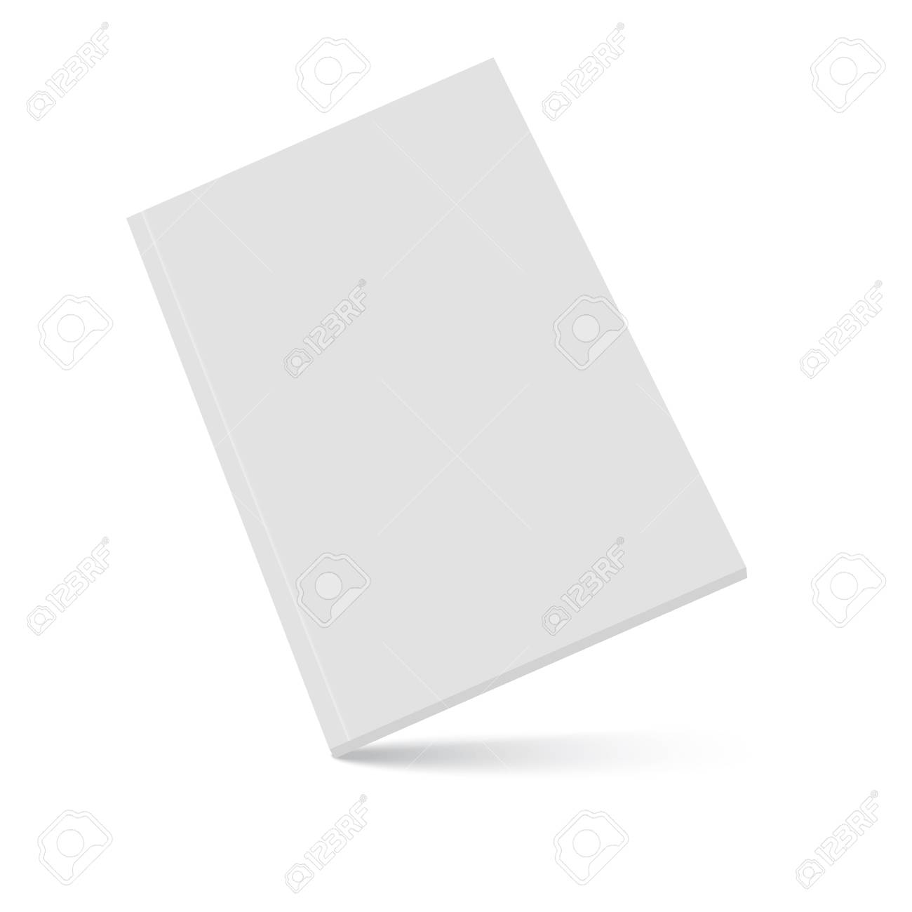 Closed book, cover. Mockup for the cover design. High detail. Isolated on white background. - 103787534