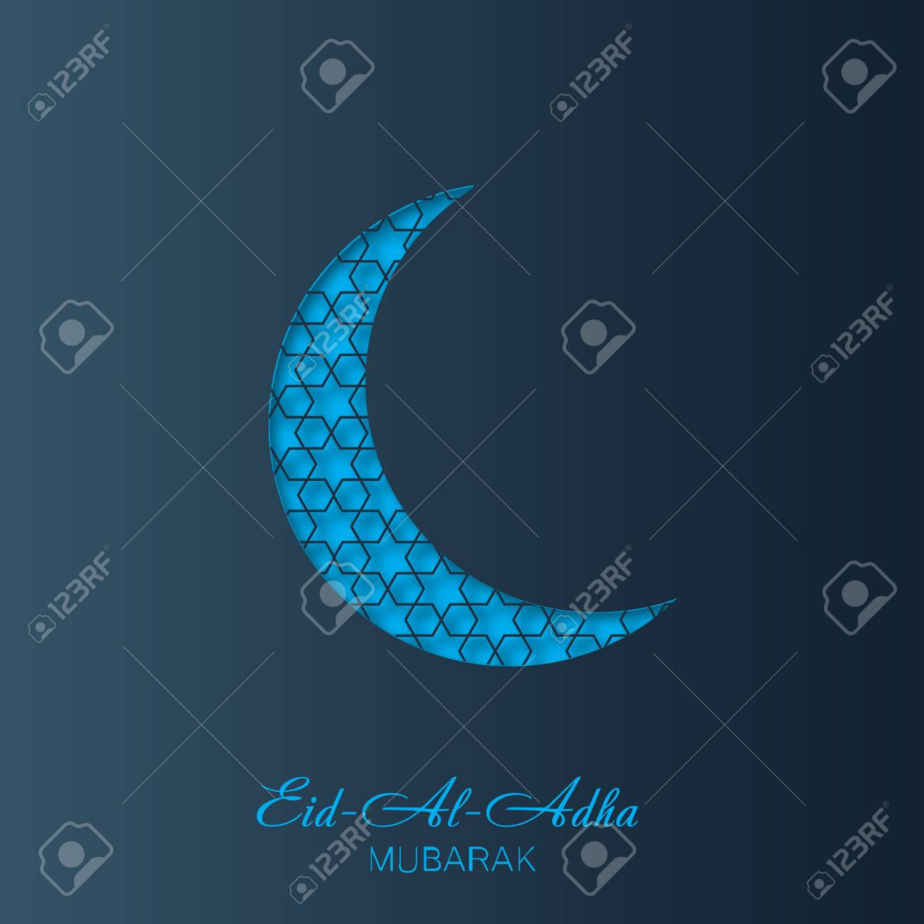 Eid al adha greeting card with crescent and islamic lantern eid al adha greeting card with crescent and islamic lantern vector stock vector m4hsunfo