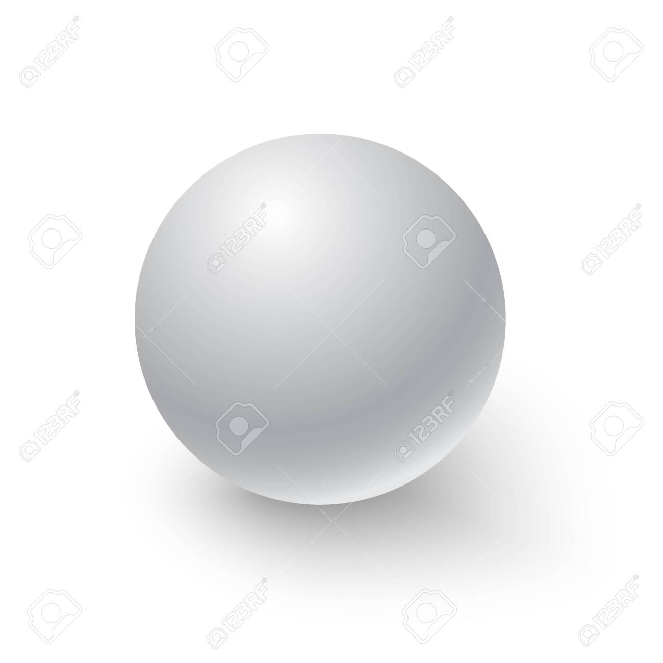 White sphere. Ball. 3D. Vector illustration - 123943689