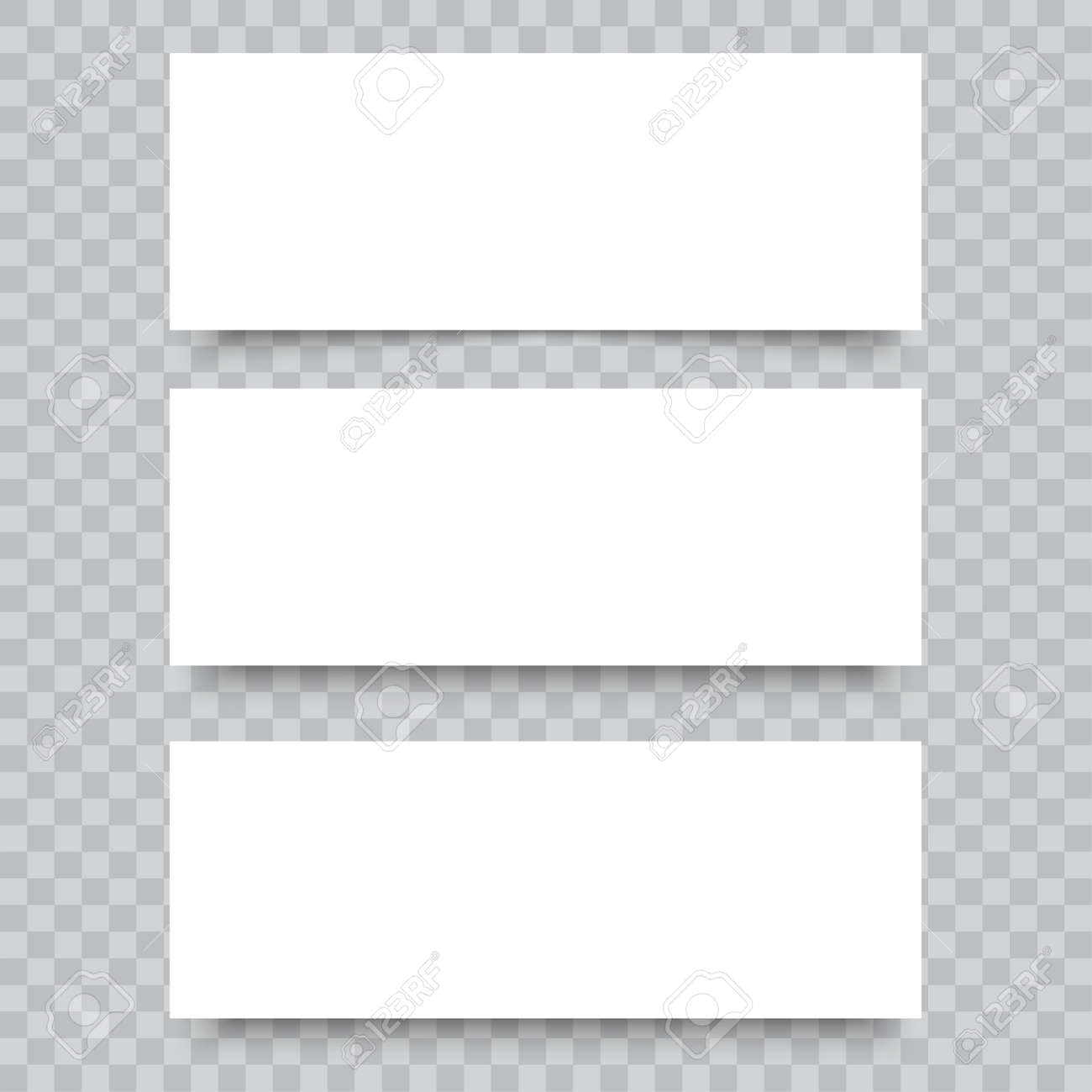 Blank of business cards on transparent background. Vector. - 125791995