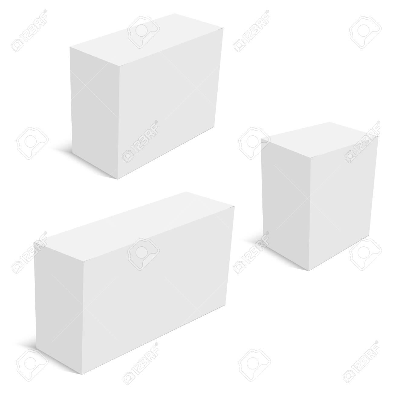 Realistic cardboard packaging boxes mockup. Vector - 151474635