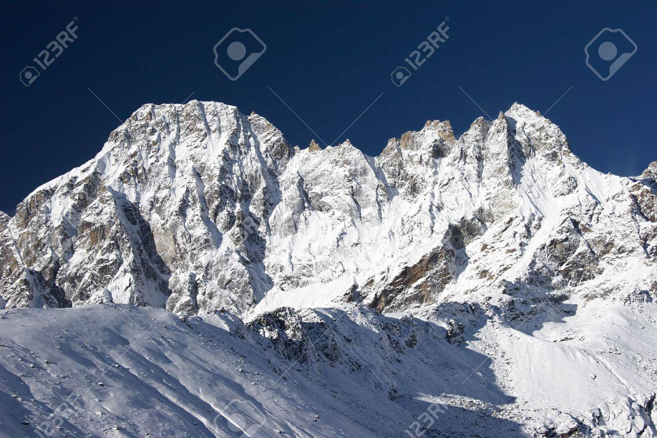 Blue sky over mountains after snowfall, Himalayas Stock Photo - 5388253