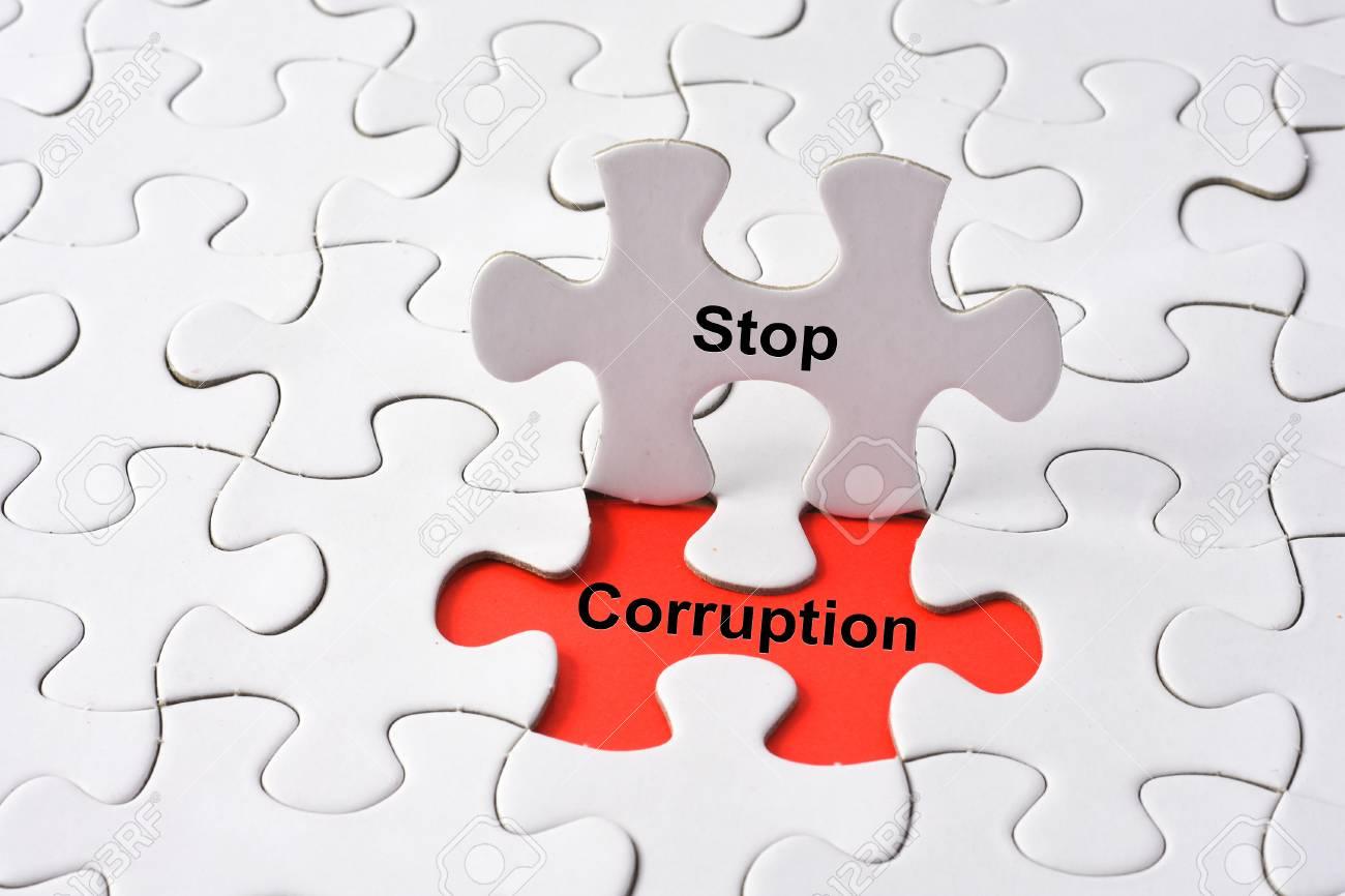 Stop Corruptionconcept on missing puzzle - 55773676