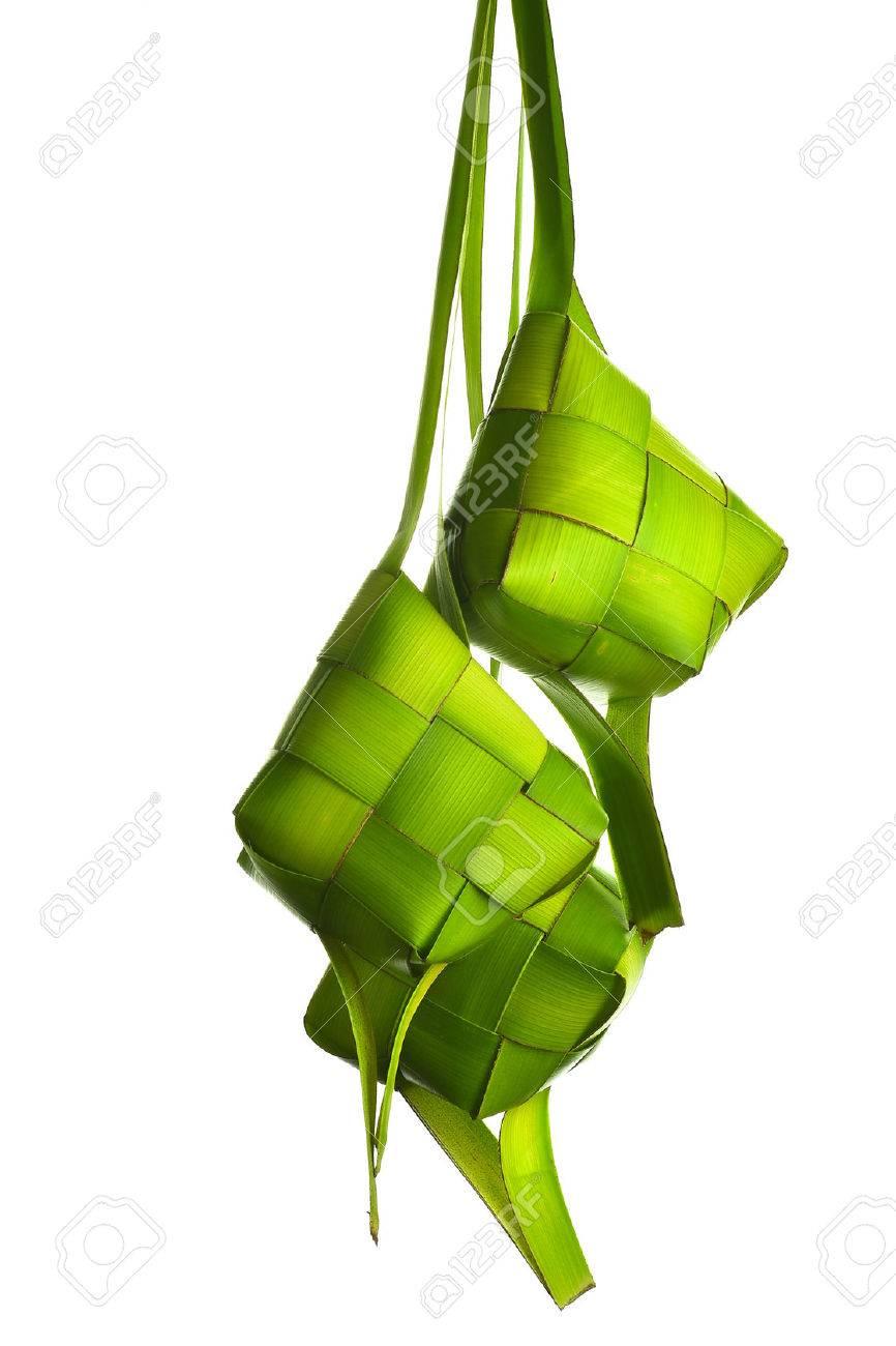 Ketupat (Rice Dumpling). Ketupat is a natural rice casing made from coconut leaf. - 61137498