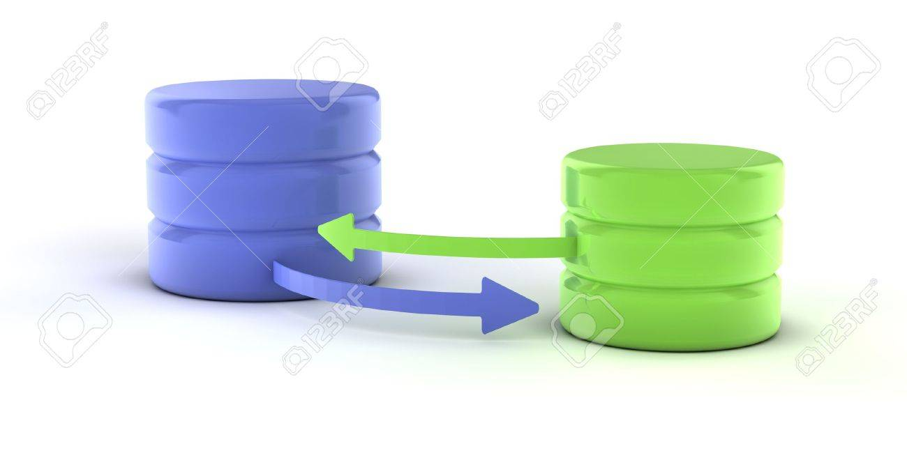 A set of databases as concept for redundancy and data distribution Stock Photo - 6365576