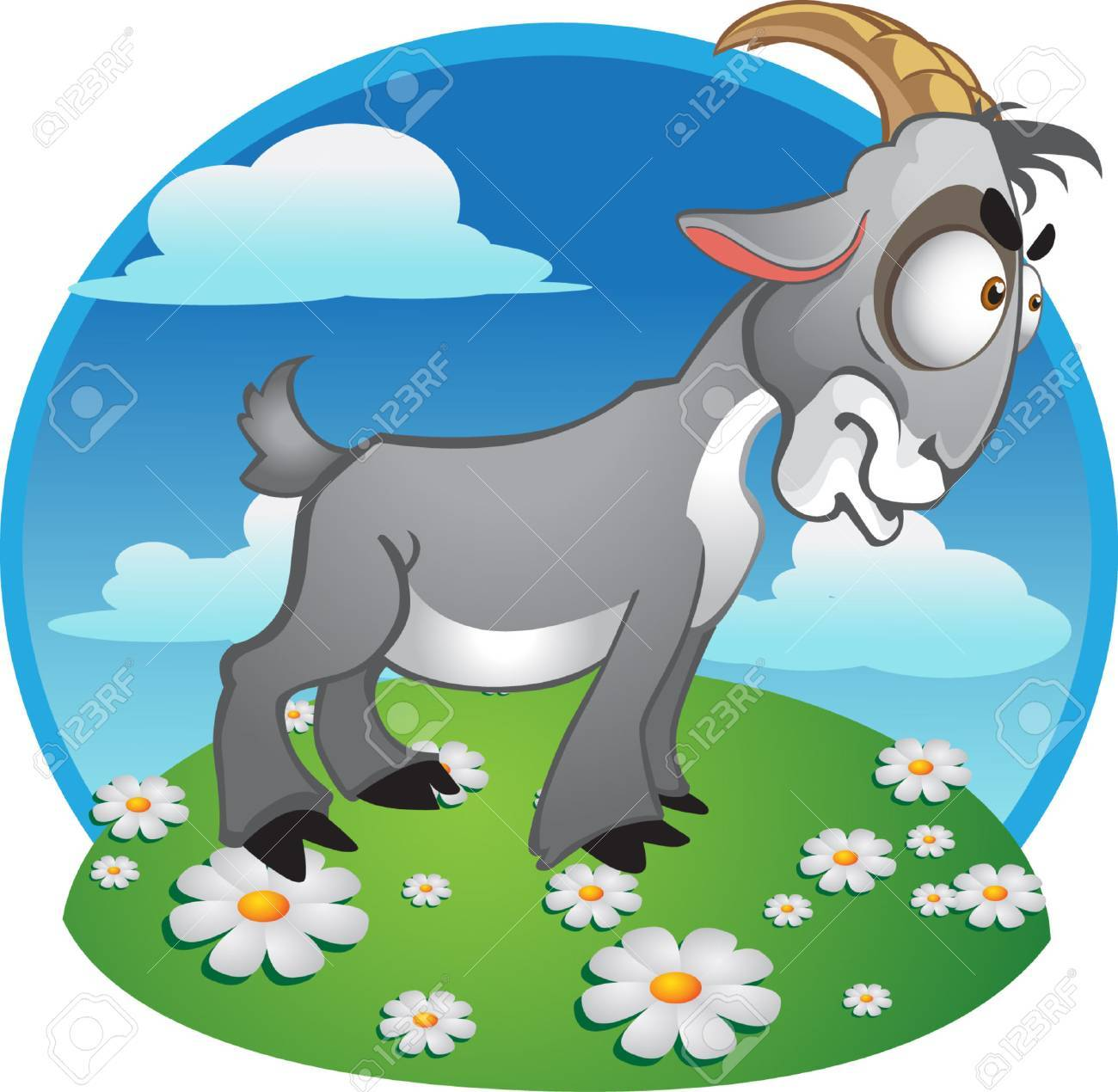 goat on background Stock Vector - 6023291