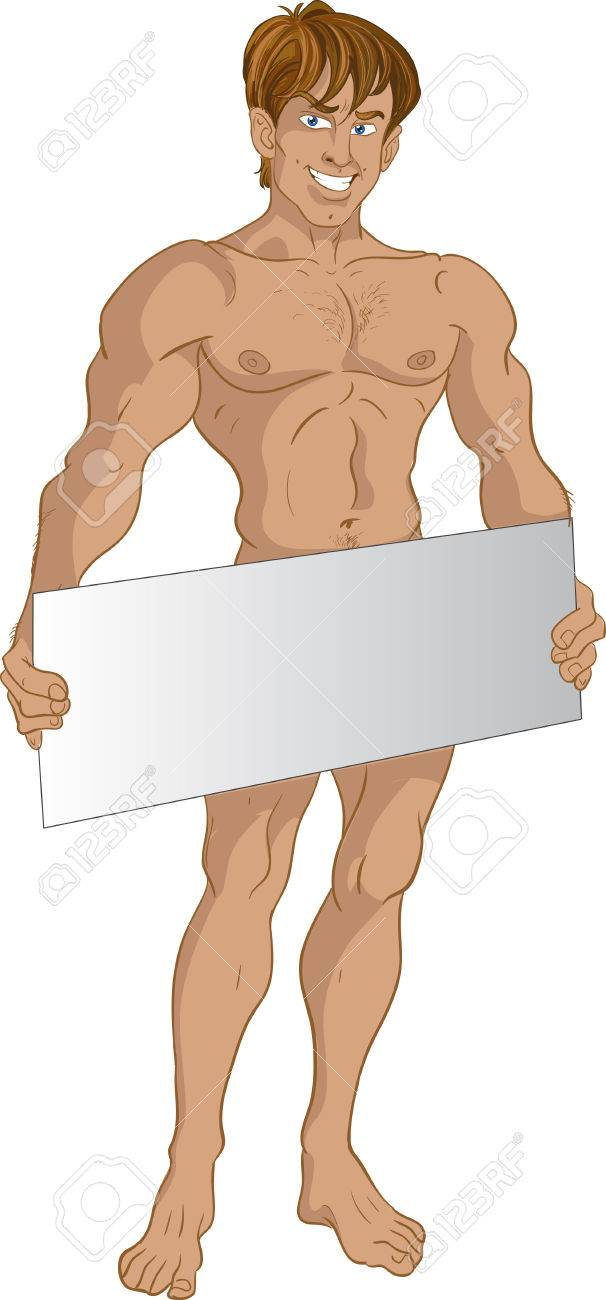 Nude blond boy with text area Stock Vector - 6165930