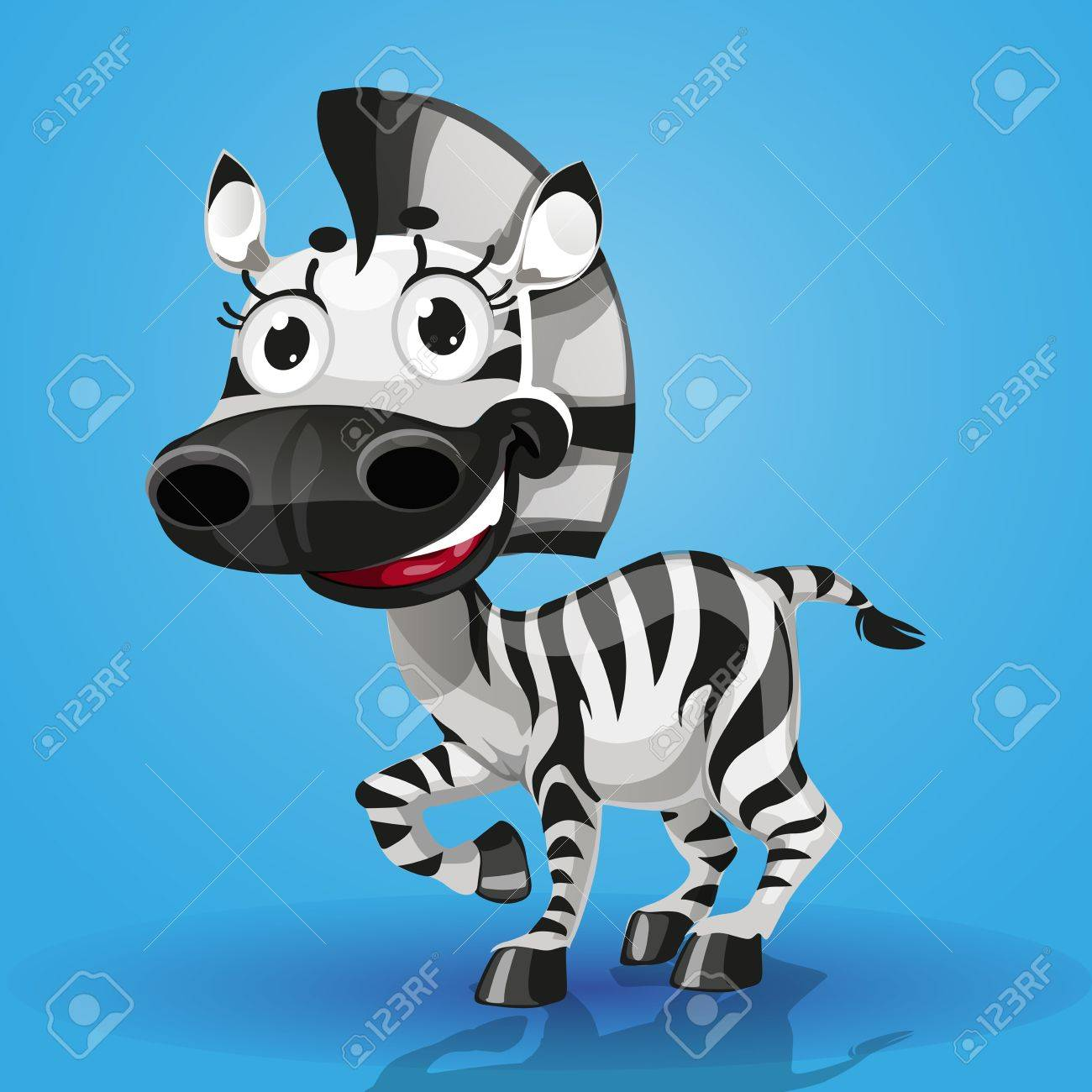 Cute cartoon character baby-zebra Stock Vector - 15113394