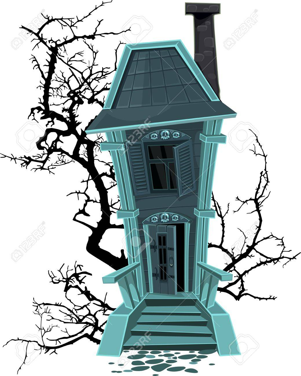 Halloween witch house Stock Vector - 15503919